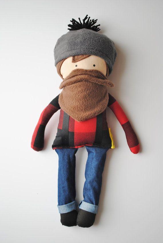 Buffalo Plaid Paul Bunyan...A Man Doll by herbunniesthree on Etsy