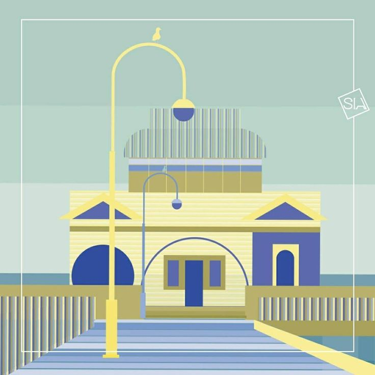 30 days of summer: 2 - Seaside Kiosk. The location is inspired by Melbourne's St Kilda's Pier Kiosk - a historic pier with a kiosk/restaurant at the end and behind it a liitle penguin colony. With fantastic views of Port Philip Bay as well as the Melbourne city skyline it's a gorgeous spot.