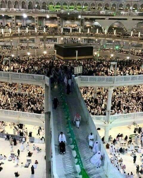 A beautiful view of the mataaf # kabah # Mecca