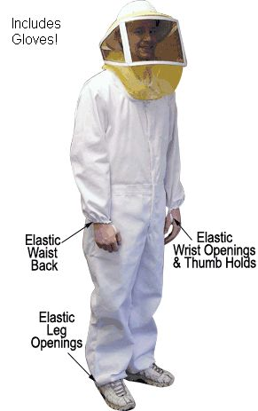 Professional bee keeping suits. Click here.