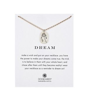 Dogeared Two-Tone Dream Dreamcatcher Disc Charm Necklace
