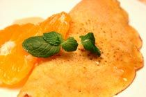 Orange flavor crepe and carrots