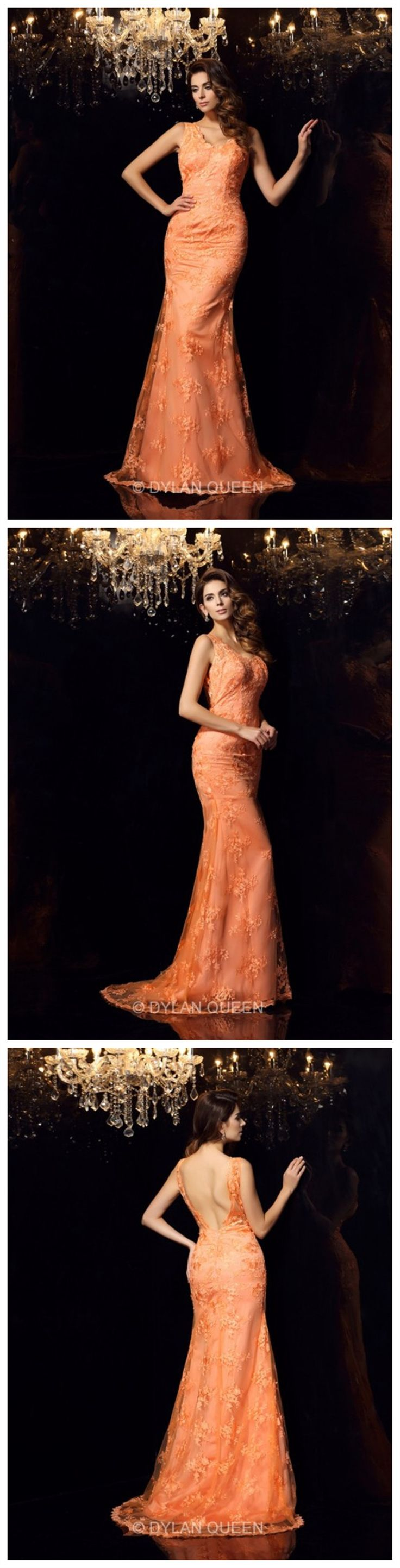 #dylanqueen  graceful & charming sweep dress  with lace for Evening party or Ball Gown