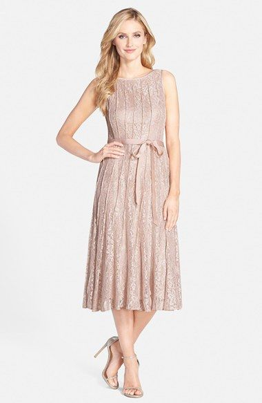 Alex Evenings Glitter Lace A Line Midi Dress Available At