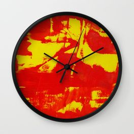 Game: red vs yellow Wall Clock