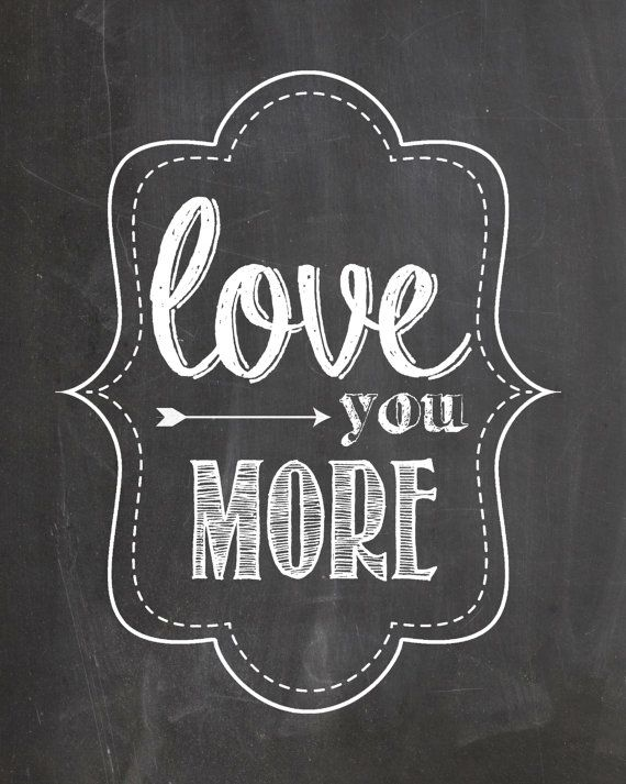 Chalkboard LOVE prints