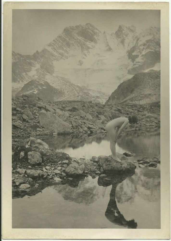 nu artistique par marcel meys 1925 femme reflet dans un lac montagne cachet marcel meys. Black Bedroom Furniture Sets. Home Design Ideas