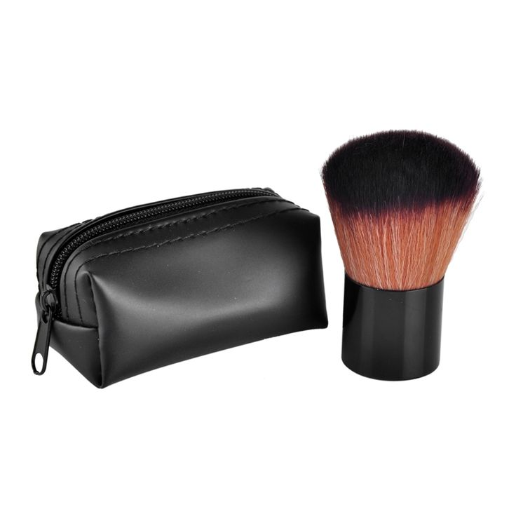 synthetic hair brushes. face powder foundation eye shadow makeup brushes flat contour blusher brush synthetic hair cosmetic tools with