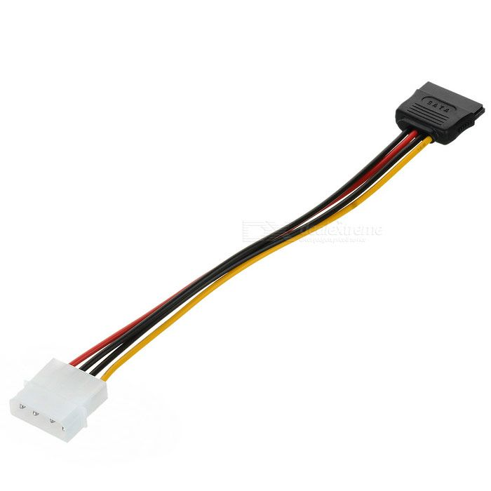 SATA Power Cord (20cm). The SATA power cable is 4 pin IDE to 15 pin SATA HDD power adapter cable. It is compatible with serial ATA hard drives, CD-RW, DVDs, and other devices. This SATA power cable is fast and easy way to connect SATA / 150 hard drives to a motherboard. - Compact and quite practical. Tags: #Computers/Tablets #Networking #Cables #Adapters #Computer #Cable #Adapter