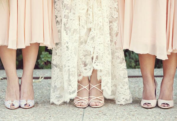 pretty pink dresses, lace, and shoes
