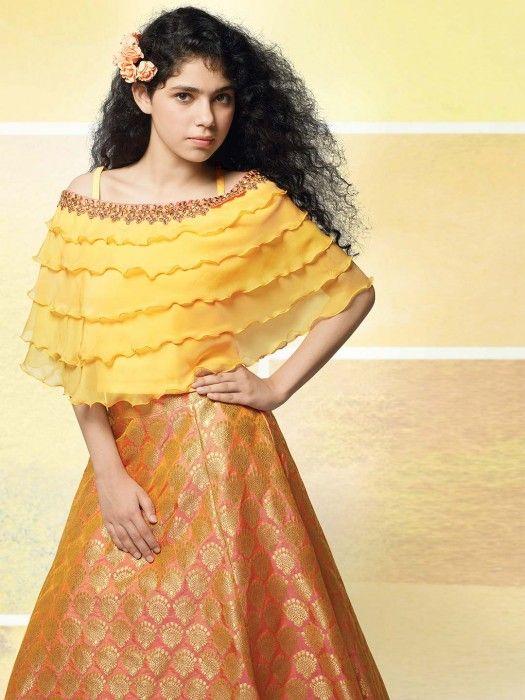 1226cb0c19c Orange Hue Beautiful Lehenga Choli