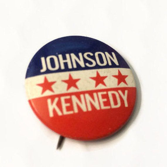 Vintage Johnson Kennedy 1964 Election Button LBJ by ThriftyTheresa