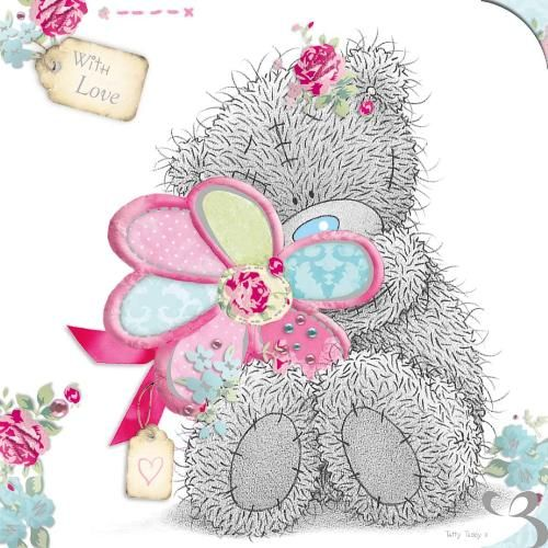 Tatty Teddy with Flower Me to You Bear Card (A01VD002) : Me to You Online - The Tatty Teddy Superstore.