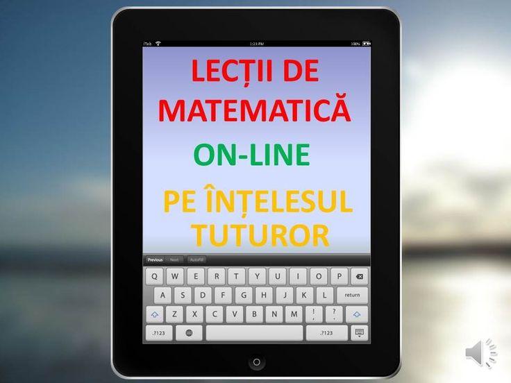 https://www.youtube.com/user/RezolvariMatematica Lectii de matematica online