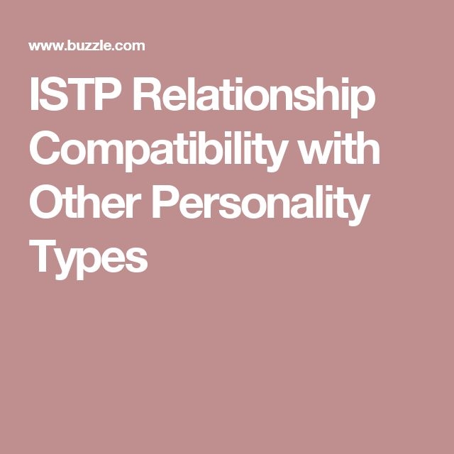 ISTP Relationship Compatibility with Other Personality Types
