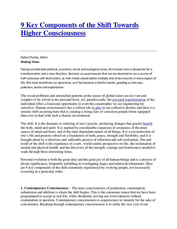 9 Key Components Of The Shift Towards Higher Consciousness. Higher  ConsciousnessLifestyle ChangesCover LettersPresentation ...