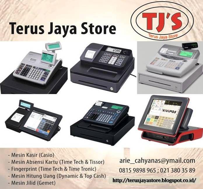 Merk/Type :  - Casio SE S 400  - Casio 140 CR  - Casio SE S 10  - Casio SE C 300OM  - Casio TE 2200  - Casio TE 2400  - Casio TK 3200  - Casio VX 100  - Casio QT 6100  - Casio Vivipos  - Casio MegaPOS Pro  Call :  Terus Jaya Store Arie Cahyana SE Hp: 0815 9898 965  Ph: 021 3580 3389  Email : arie_cahyanas@ymail.com    #cashregister #mesinkasir #restaurant #casio #cashdrawer #kasir #register #rumahmakan #electronic #barcode #cashier #cashdrawer #POSsystem #printerkasir #usaha