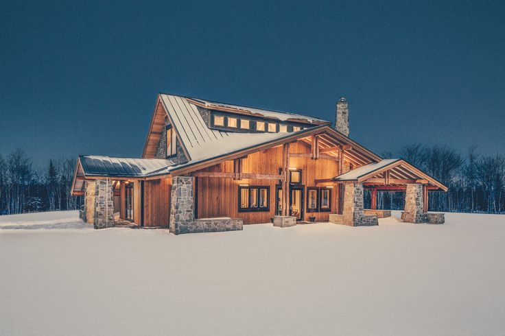 Snowy winter image of The Lodge at Forest Lakes Country Club.  Photo credit: Julian Parkinson, halifaxarchitectural.ca