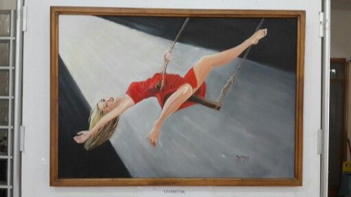 TÜYB 65x95cm oil on canvas by Ayla Angin
