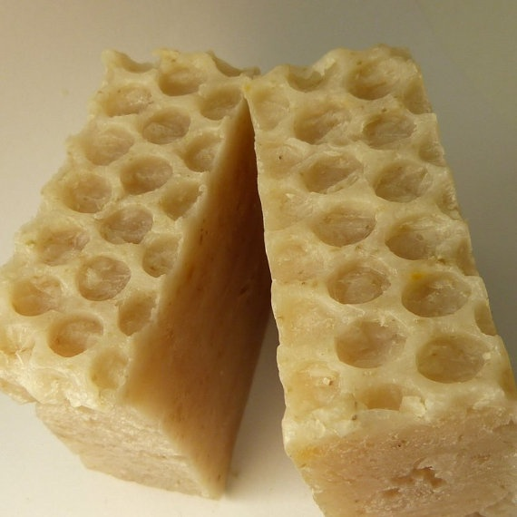 Honey Oatmeal handcrafted soap!  Homemade.  $5.25 for big bar - stocking stuffer??