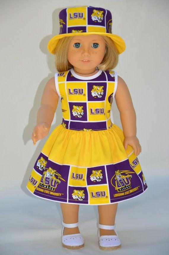 American Girl  dolls clothes   LSU  University by Symidollsclothes, $24.00
