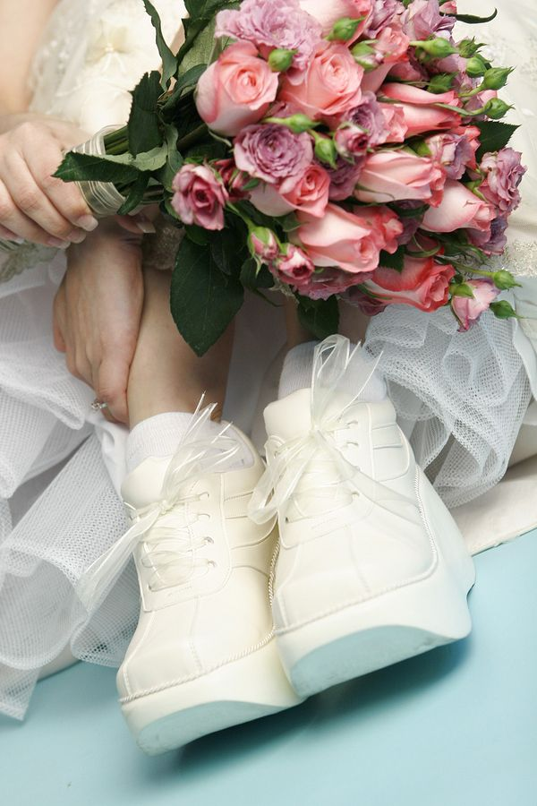 "Brides-to-Be, Be Sure to Have Wedding Day ""Shoes"" That Help You Run!"