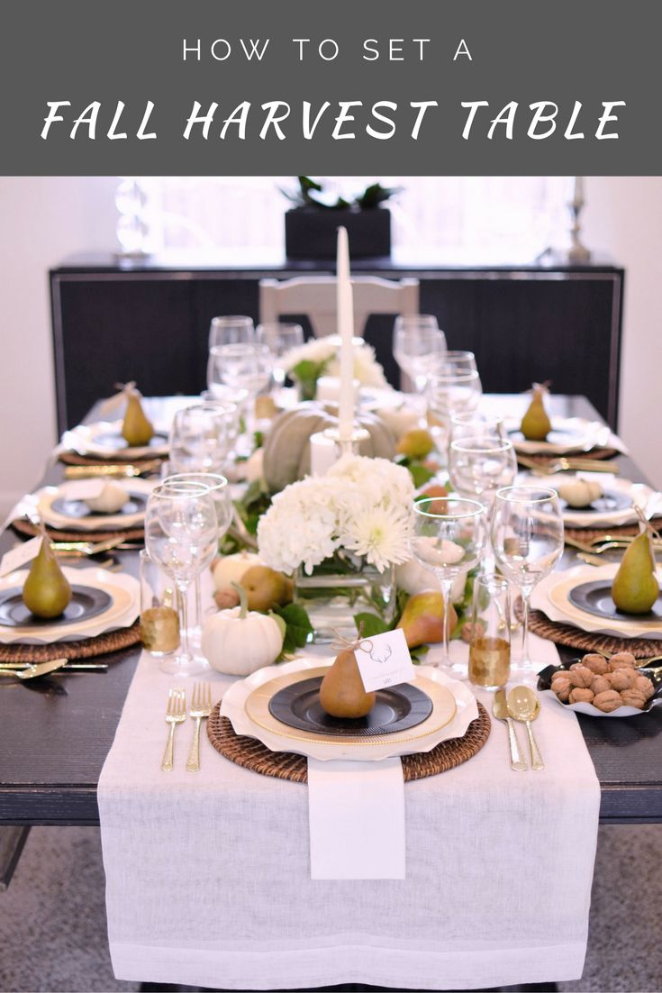 How to Set a Fall Harvest Table for Your Friendsgiving or Thanksgiving | The Inspired Home