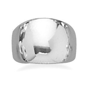 Polished Sterling Silver Domed Cigar Ring West Coast Jewelry. $43.95