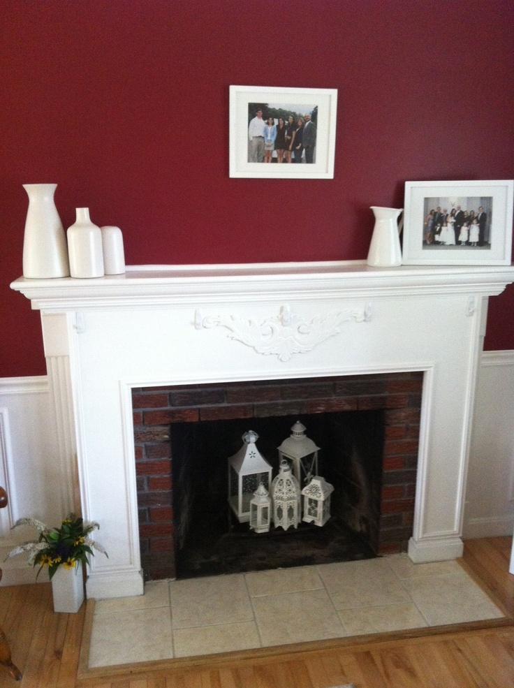 Summer Fireplace Lanterns For The Home Pinterest Mantels Living Rooms And Fire Places