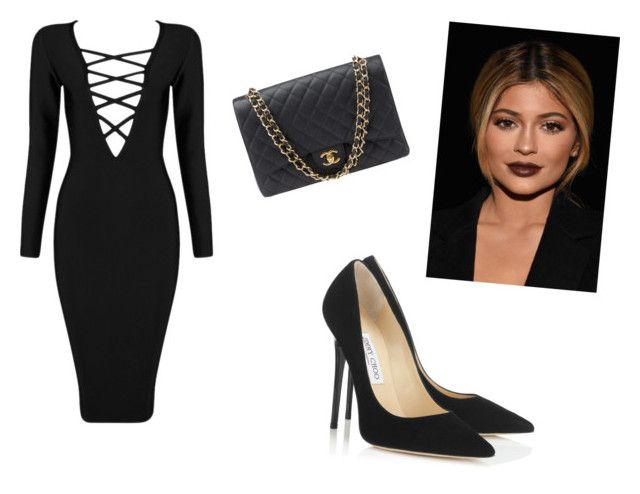 kylie jenner by alexandra-ns on Polyvore featuring Posh Girl, Jimmy Choo and Chanel