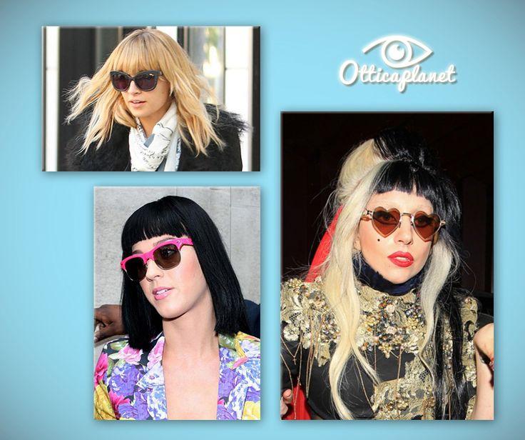 Fatti tentare dallo stile stravagante e colorato delle celebrieties per i tuoi occhiali!  Parola d'ordine del 2016: forme shock! http://www.otticaplanet.com/