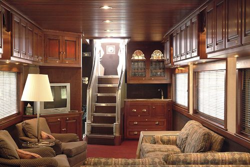 Private rail cars like the Observatory (formerly Vista Dome) travel across the USA on Amtrak trains. Hire the Observatory from Private Rail Cars....