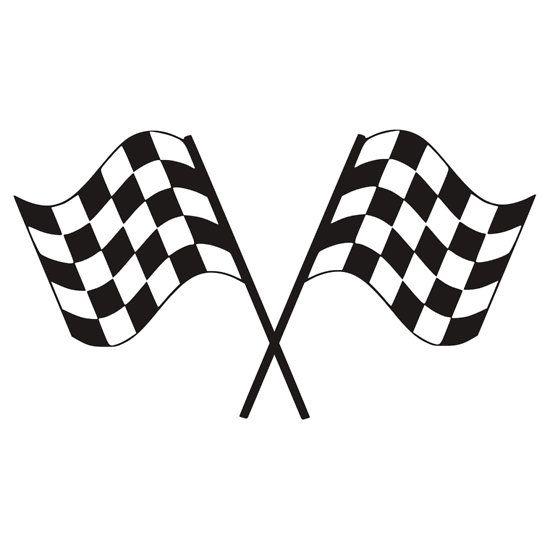 Checkered Flag Racing Sticker