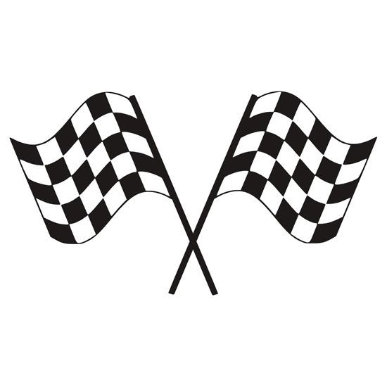 Checkered Flag Racing Sticker