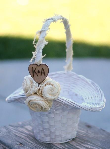 Flower Girl Baskets On Pinterest : Flower girl basket my rustic wedding ideas