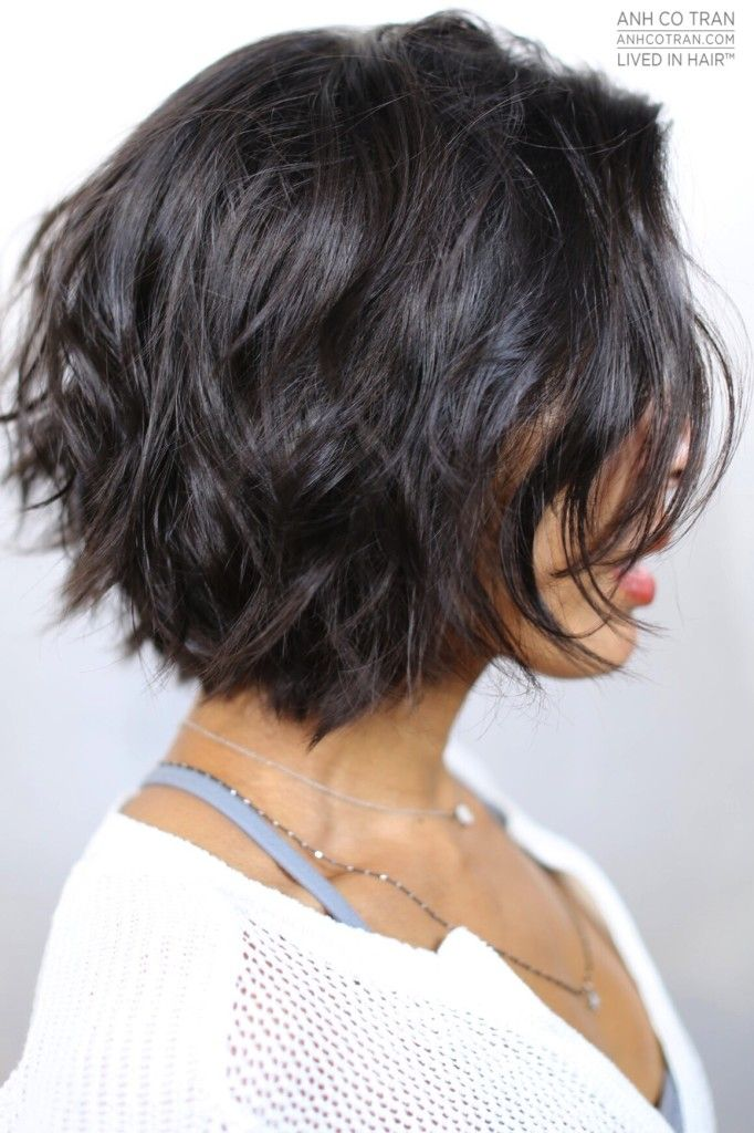 Works great with my curly hair! You should take the plunge and try it!! when i see all these wavy bob hairstyles and haircuts it always makes me jealous I absolutely love this wavy bob hairstyle and haircut so pretty! Perfect for fall and winter!!!!!