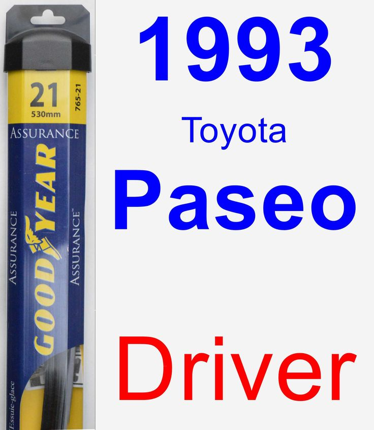 Driver Wiper Blade for 1993 Toyota Paseo - Assurance