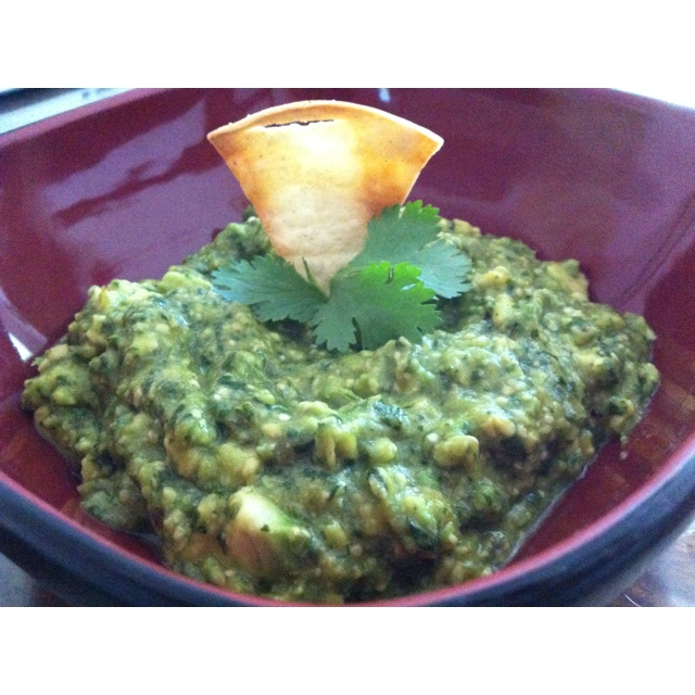 Tomatillo guacamole | Cooking in the Kitchen | Pinterest