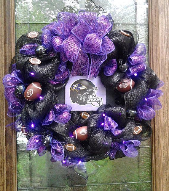 Ravens wreath by BCCbyBecca on Etsy, $55.00