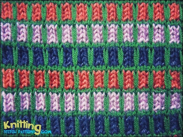 Knitting Color Pattern Generator : Colorful slip-stitch pattern looks amazing on sweaters, socks and any other c...