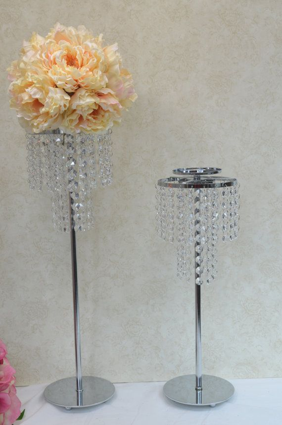 Ideas about crystal wedding centerpieces on