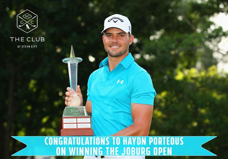 Congratulations  Haydn Porteous on winning the Maiden Euro Tour Title at The Joburg Open!  The Club At Steyn City wishes you a fantastic and prosperous year ahead!