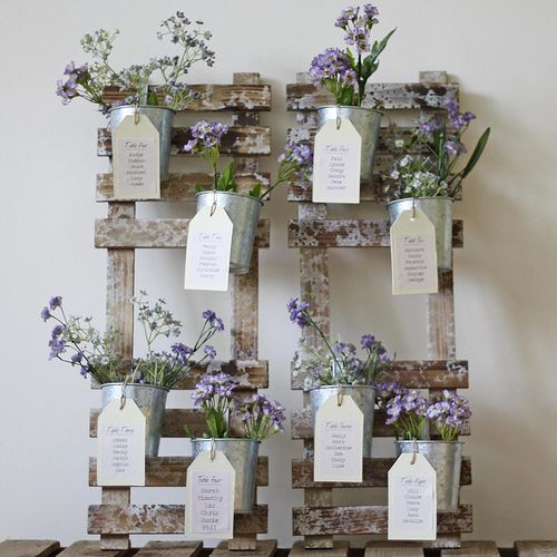 Wedding TABLE PLAN with FLOWER POTS   available from www.the…   Flickr