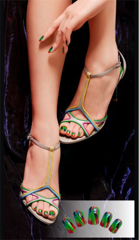 Love your nails? Love your shoes? Match them both with Tink'd!  #fashion #shoes #love #trends #printmynails #fashionbloggers #design #designers #green #blue #colours