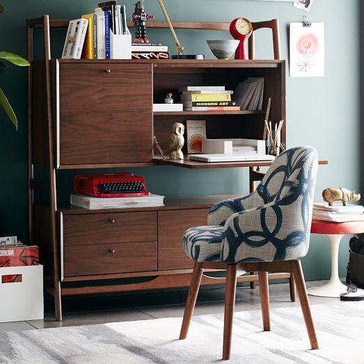Desk For A Grown Woman Mid Century Secretary Walnut