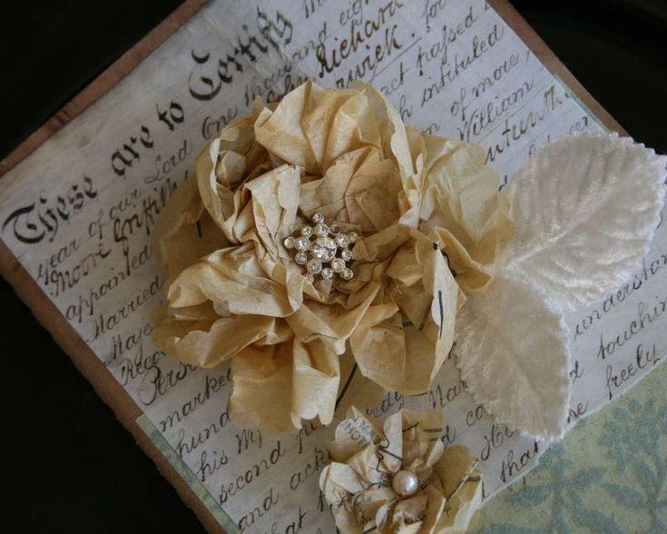 Vintage Sewing Pattern Tissue Flowers <3