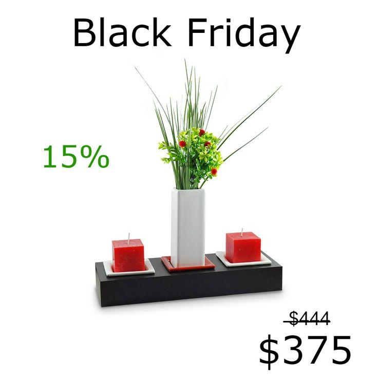 ¡Te aseguro que quedará hermoso en tu mesa!  Mirá las combinaciones en:https://articulo.mercadolibre.com.ar/MLA-618286180-portavela-florero-velas-ceramica-decoracion-diseno-_JM  Los combos no incluyen arreglo floral. El precio es con el florero en color blanco, negro, verde o aqua. En rojo, naranja o azul sale $435