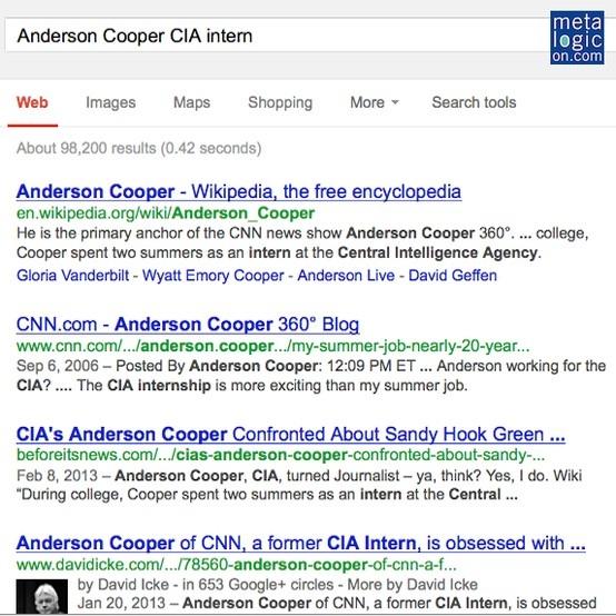 Anderson Cooper CIA intern