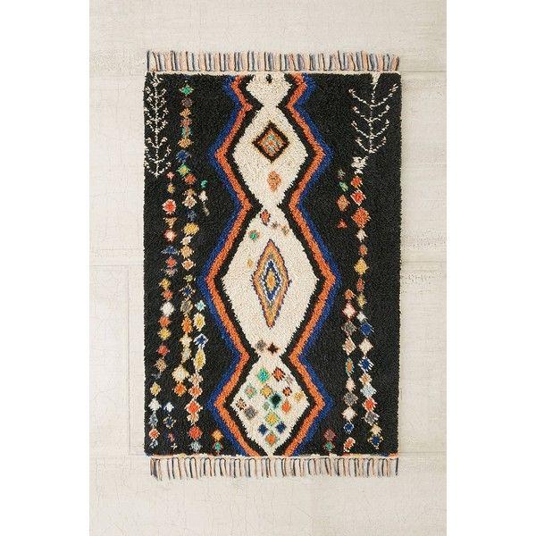 Malibu Diamond Shag Rug ($499) ❤ liked on Polyvore featuring home, rugs, black, woven rugs, diamond pattern area rug, black shag rug, black shag area rug and weave rug
