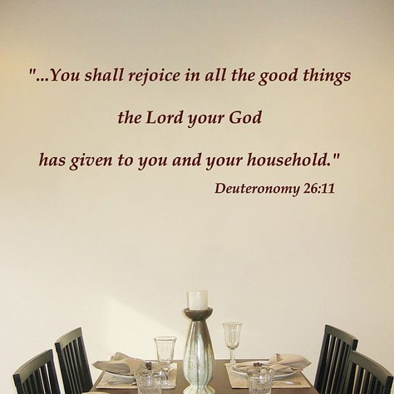 You shall rejoice in all the good things by ChristianWallDecals